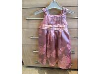 Monsoon age 3 years party silky dusky pink in colour