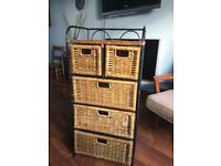 Set of drawers, Unit. Basket. Wrought iron.