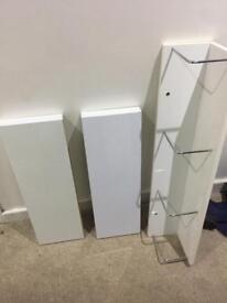 White gloss shelves