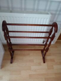 Antique Wooden Towel Rail