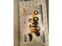 Brand new boxed jcb digger & trailer