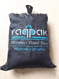 Microfibres travel towel blue