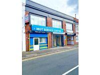 Birmingham city centre warehouse, MOT garage, storage unit, retail