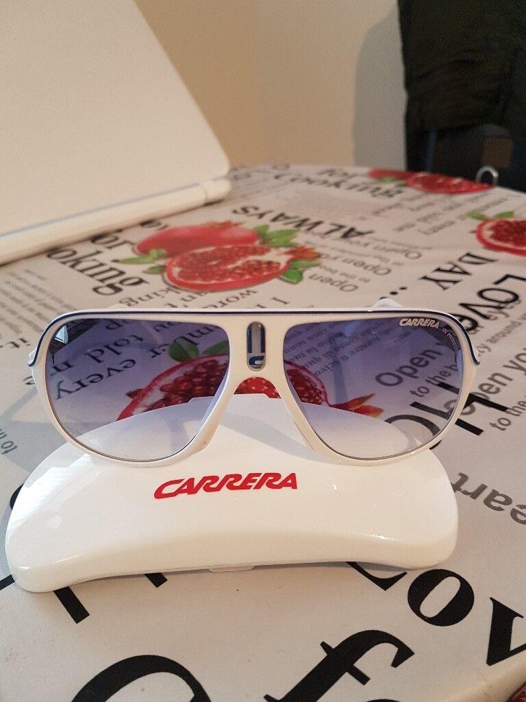 77e85a2ab77dd NEW CARRERA SUN GLASSES UV PROTECTION COLOUR BLUE AND WHITE