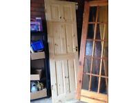 6 panel narrow pine door