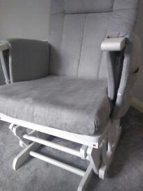 White with grey cushion Nursing chair