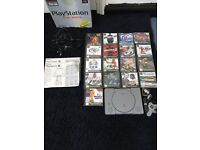 Great Condition PlayStation 1 Boxed With Games and Memory Card