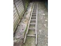 Vintage double extending ladder