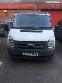 2007 FORD TRANSIT 2.2 DIESEL MANUAL WHITE MOT SWB LOW MILEAGE HPI CLEAR QUICK SALE
