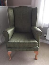 Wing back armchair - vintage home - priced to sell