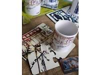 H&W mugs and coasters