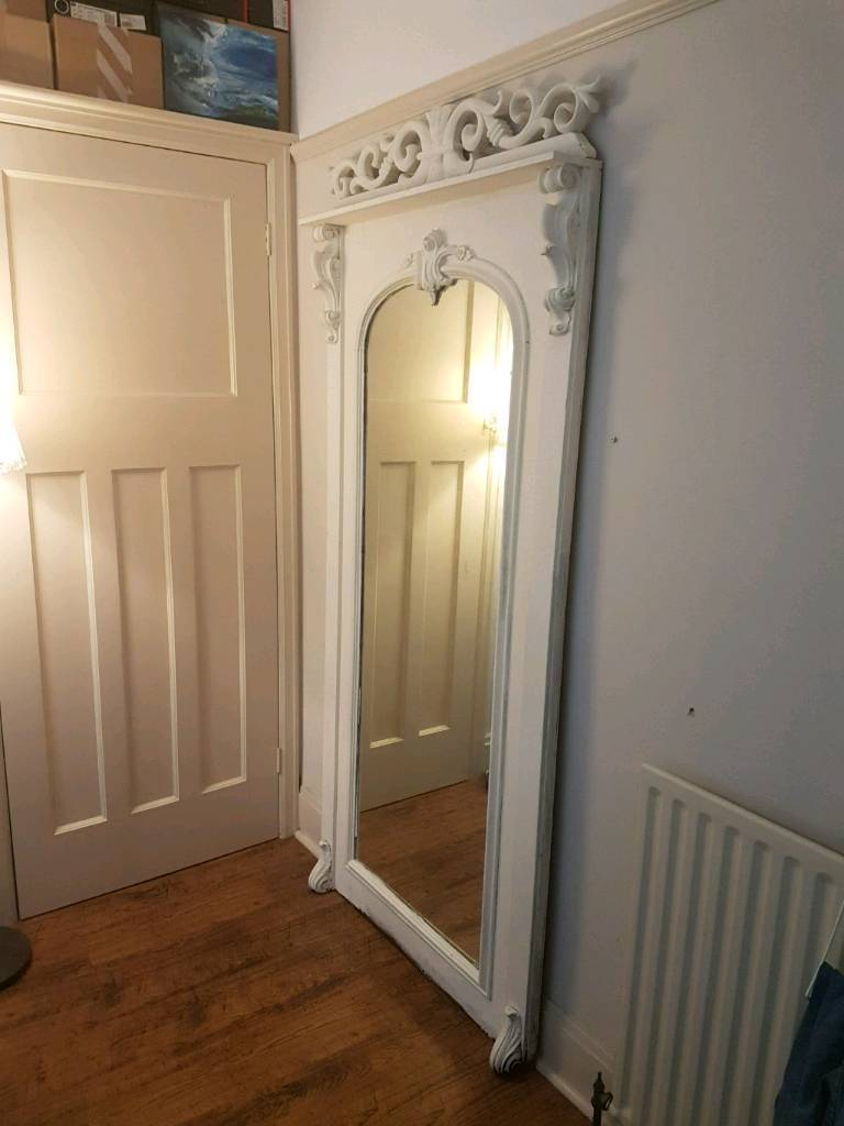 Antique Rococo Full Length Free Standing Mirror