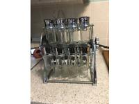Carousel spice rack with 20 jars
