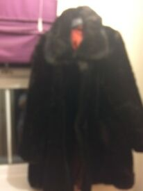 Brown fur coat size 14-16
