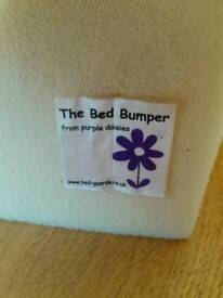 Purple Daisies award winning toddler bed bumper/guard 100cm & 50cm, £5 and £3 or together for £7