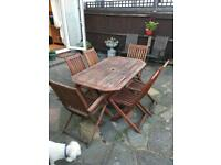 Solid Hardwood Garden Table and Chairs