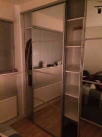 sliding mirrored wardrobe door