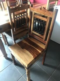 2 Chennai dining chairs in excellent condition