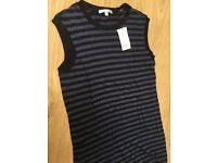 Vince stripe sleeveless top. New > size small
