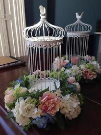 Vintage birdcages wedding party home decor shabby chic
