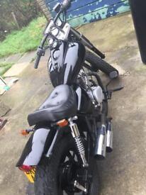 Baimo - Harley Davidson lookalike 125 cc Cruiser/Chopper VERY LOUD TWIN EXHAUSTS