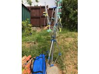 4 Arm Rotary Clothes Airer Washing Line Portable AluminiuM