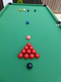 Pot Black Junior Pool/Snooker Table and Accessories