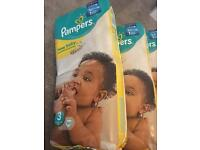 Pampers size 3. 4 new packets