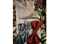 Mens x3 brand new bow ties with one pocket tie