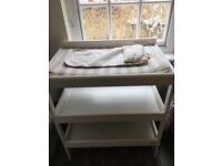 Changing table and mattress