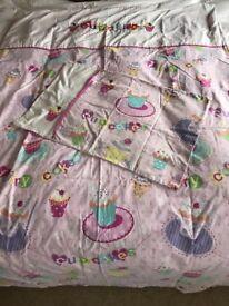 Cupcake single bedding set