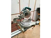 Makita miter saw with DeWalt stand