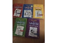 5 x Diary of a Wimpy Kids books