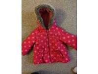 Girls coat- age 9-12 months