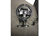 Logitech G920 Driving Force Racing Wheel, Stand & Pedals