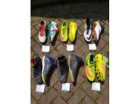 Football boots varoious sizes