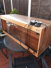 Vivarium 40x18x18 in great condition with heat lamp and thermostat