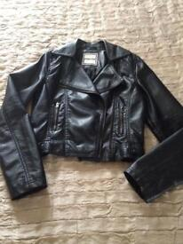 Soft Leather Look Jacket