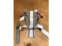Original grey and white mesh Baby Bjorn carrier