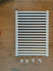 Two column white radiator
