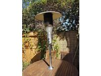 Table Top Outdoor gas patio heater with light
