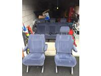 Vw T4 Caravelle rear seats in blue 2 single and rear bench