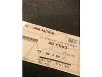 3 x Jake Mitchell tickets, SEC Glasgow, Sun 21/1/17