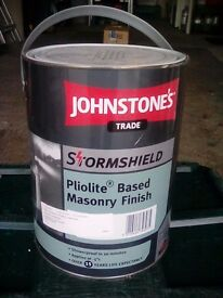 Johnstons Masonary Paint (Pliolite based) Stormshield. 15year life expectancy.