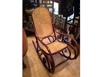 "Rare Vintage Habitat Thonet Style Bentwood ""Dinette"" Rocking Chair"