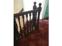 Victorian Wooden Canadian Maple Staircase