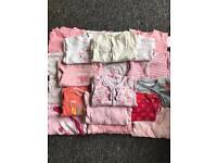 3-6 month girls baby grow bundle