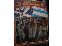 Scotland V Argentina Official Football Programme Saturday 2 June 1979