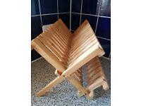 2 tier wooden dish drainer