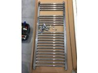 Large Silver towel rail radiator